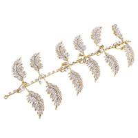 baroque jewellery - Hair Jewellery Beautiful Leaves High Quality Golden Cheap Western Wedding Hairband Rhinestone Country Beach Wedding Baroque Tiaras Crowns