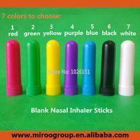aromatherapy inhaler - Sets Empty Aromatherapy Inhalers Nasal Inhalers Blank Nasal Inhaler Sticks to DIY Essential Oil High Quality Cotton Wicks