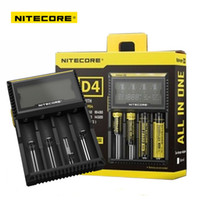 aa battery charger lcd - Original Nitecore D4 Digicharger Universal Battery Digital Charger LCD Display Charging Device for AA AAA Li ion Batteries