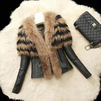 100% Cotton apparel standards - 2017 Winter New Fashion Fashion Jacket Vests Women Fur Leather Coat Vest Outerwear Clothing Apparel Black Jacket With Fuax Fur FS0940