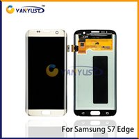 Wholesale LCD Display Touch Digitizer Complete Screen Panels Full Assembly Replacement For Samsung Galaxy S7 Edge G935 G935F G935A G935V