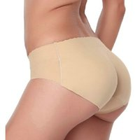 Wholesale Underwear women Seamless Sexy lingerie Underwears Panties Briefs hip and butt pads pantalones mujer silicone hip padded panty