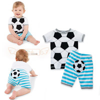 baby football tops - new Arrivals summer baby boys girls set Casual Football clothing set tops shorts sport suit pc newborn clothes toddler wear