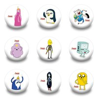 adventure time button pins - 9pcs Set Adventure Time With Finn And Jake Cartoon Brooch Badge Pins Brooches Button Badge Decoration Of Cloth Kids Party Gifts High Quality