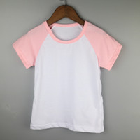 Wholesale pink cute girls tee shirts baby sister raglan clothes skinny cotton holiday shirts cotton spandex kids tops toddle raglan clothing