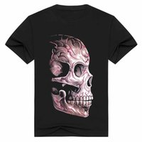 Wholesale 2017 D printing skeleton printed t shirts Cotton Authentic Designs With Detailed Artwork Machine Wash No Shrinking