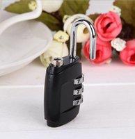 Wholesale Luggage Padlock D Combination Password Resettable Suitcase Lock Travel Mini Lock simulation TSA locks