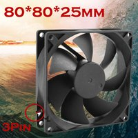 Wholesale Simplestone Quiet cm mm x80x25mm V Computer PC CPU Silent Cooling Case Fan drop shipping