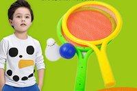 Juguete de la raqueta de tenis Baratos-La venta de raqueta de tenis de plástico para niños establece el padre - niño deportes raquetas de bádminton bebé bola juguetes al por mayor