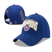 Wholesale good mlb Chicago Cubs World Series Champions Hat Cubs Snapbacks Fashion Baseball Caps Cheap Adjustable Hats All Teams Caps Available