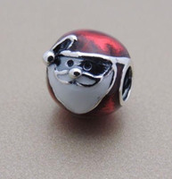 Wholesale Genuine Authentic Silver Jolly Santa Charm Bead Fits European Pandora Style Jewelry Bracelets Necklace