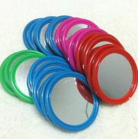 Wholesale On Sale Multi Color Simple Women Portable Pocket Plastic Mirror Cosmetic Mirror For Girls and Ladies