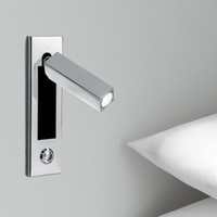 Wholesale New Recessed Foldable Swivel Wall Lights Chrome finish Touch dimmer Head Swivels degree Left Right or Forward