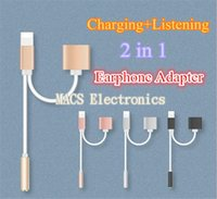 Wholesale Best Price cm in Earphone Charger cable mm Headphone Jack Adapter Cable For iPhone7 plus s plus