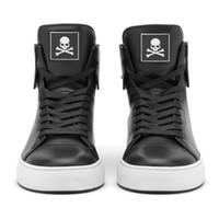 Wholesale Men s MM Engraving Lock Shoes Fashion Brands Designer New Men Black Key Shoes Boys Genuine leather Hip Hop Shoes Size A021