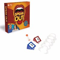 Wholesale 2017 New Speak Out Game Logical Speak Out Boarding Interesting Party Game for Halloween Christmas