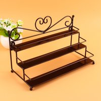 Wholesale Cool Useful Tier Metal Heart Nail Polish Display Wall Rack Organizer Stand Holder Colors Available
