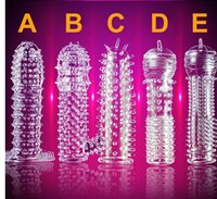 Wholesale Sex Aid Wholesalers - Hot sale Crystal Penis Ejaculation Delay Sleeve Cock Erection Ring vaginal Sexual Aid Condom Adult product sex toys