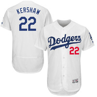Wholesale Men s Los Angeles Dodgers baseball jerseys Clayton Kershaw Majestic White Home Flex Base Authentic Collection Player Stitched Jersey