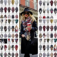 basic acrylic colors - 74 Colors Winter Tartan Scarf Plaid Blanket Scarf New Designer Unisex Acrylic Basic Shawls Pashmina Women Scarves Big Size cm PPA636