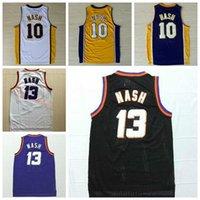 Wholesale TOP A Sale Steve Nash Throwback Jerseys Sports Fashion Rev New Material Retro Steve Nash Shirt Uniform Home Road Yellow Purple Whit