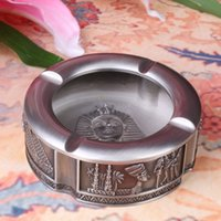 ancient egypt crafts - OGRM Crafts Egyptian Pharaoh Tutankhamun ashtray zinc alloy Metal Crafts Gift Ancient Egypt Patterned Classic Antique Ashtray