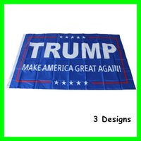 Wholesale 90 cm Donald Trump Flag Foot USA American President Make American Great Again President Election Party Festival Banner Flags