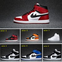 Wholesale Newest Air Retro Basketball Shoes s black toe Carmine chicago fragment x high og banned top3 reverse shattered backboard Royal Blue away