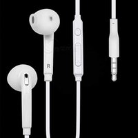 Wholesale 3 mm headphone white and black earphone in ear with Mic Remote Volume Control for Samsung Galaxy S7 S6