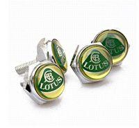Wholesale Freeshipping Chrome Metal Lotus EMBLEM Logo LICENSE PLATE FRAME Caps BOLTS Screws screw frame screw set