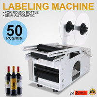 automatic electrical - Adhensive Printer With Round Electrical MT Semi Automatic Bottle Labeling Machine