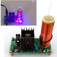 Wholesale diy V W Mini Music Tesla Coil Plasma Speaker Tesla Wireless Transmission Diy Board with v EU power