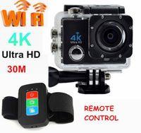 Wholesale UHD K WiFi Pro Action Sports Camera M Waterproof Go Kart HDMI Helmet Remote