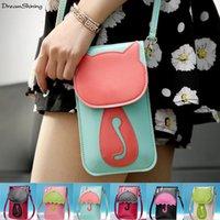 hard iphone purse - DreamShining Women Purse Satchel Carteras Card Holder Clutch Lady Phone Wallet For Iphone Shoulder Bag Handbag Messenger Girl