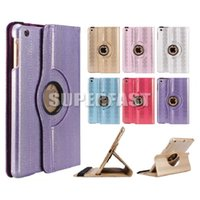 Wholesale For iPad Mini PU Leather Case For iPad Air Degree Rotation Case For iPad Mini Ultrathin Tablet Case with OPP Package