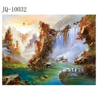 Wholesale Chinese landscape landscape sunrise Dongsheng cornucop painting Canvas painting x10 inch Finished product