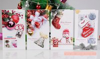 Wholesale 3D Handmade Christmas Card kinds of different design Creative Flash Powder Paper Greeting Cards child s Christmas present TA66