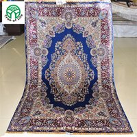antique rug blue - 3 x4 Antique Persian Silk Blue And Green Carpet Hand Knotted Turkish Oriental Rug Stores