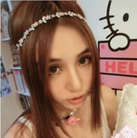 Wholesale Sweet Hairband Crystal Flower Women Headband Princess Hair Band Holiday Beach Silver Jewelry Accessories