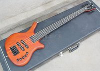 Solid active component - W component of five strings frets reddish brown electricity strings bass Can be changed to active pickup