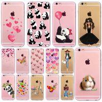 Precio de Casos del corazón iphone 4s-Caso suave de la cubierta del teléfono para el iPhone 7 6 6S 5 5S SE 7Plus 6SPlus 4S Corazón actual asombroso del hamster de la muchacha de la manera de la panda Fundas