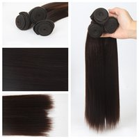 Wholesale Synthetic hair bundels most popular cheap hair extensions silky straight wave black or other color