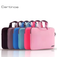 Wholesale cartinoe brand breath Simplicity sleeves bag polyester fabric for laptop bag inch