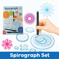 Wholesale Spirograph Deluxe Design Set educational toys Drawing toys Spirograph set For Adults and Kids Interlocking Gears Wheels