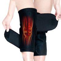 achat en gros de ceintures chauffantes-1Pair de haute qualité Tourmaline auto-réchauffement genou Magnetic Therapy genou soutien tourmaline chauffage Ceinture genou Massager