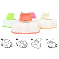 Wholesale Creative Tissue Case Baby Wipes Tissue Boxes Plastic Wet Tissue Automatic Case Care Press Pop up Table Decoration Storage