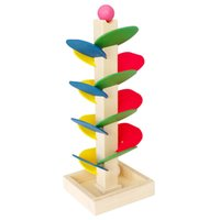 Wholesale Wooden Tree Marble Ball Run Track Game Puzzle Toy Baby Kids Intelligence Montessori Educational Toy
