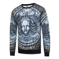 Wholesale 2016 new d print Polyester cotton hoodie unique Medusa sexy horrify dress sizes unisex mens hiphop sweatshirts