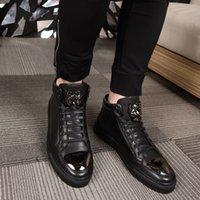 Wholesale 2017 personalized metal tiger first layer of leather handmade shoes fashion leather casual shoes brand high quality trend boots