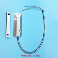 aluminum roller shutter - NC NO Wired aluminum alloy Roller Shutter metal gate Door Magnetic Switch Alarm Door Sensor for Home Alarm System keypad